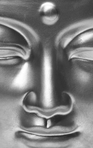 PHOTOWALL / Golden Buddha Close Up - b/w (e6418)