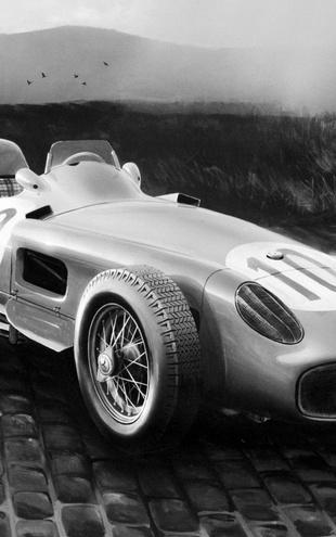 PHOTOWALL / GP Wagen 1954 - b/w (e12034)