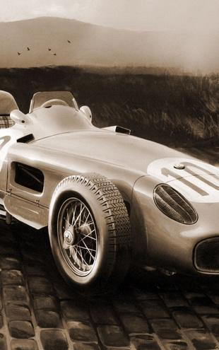 PHOTOWALL / GP Wagen 1954 - Sepia (e12035)