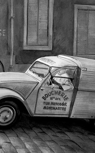 PHOTOWALL / Citroen In Paris - b/w (e12037)