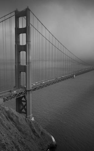 PHOTOWALL / Golden Gate - b/w (e10044)