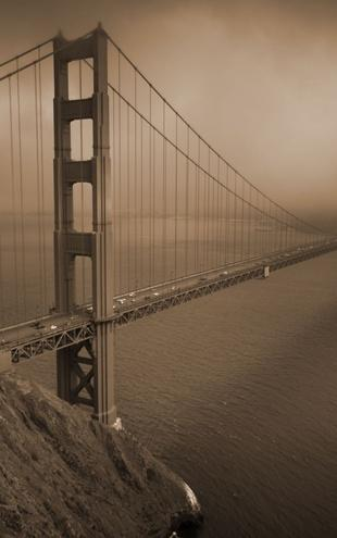 PHOTOWALL / Golden Gate - Sepia (e10045)