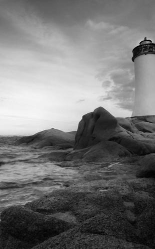 PHOTOWALL / Sardinia Lighthouse - b/w (e10047)