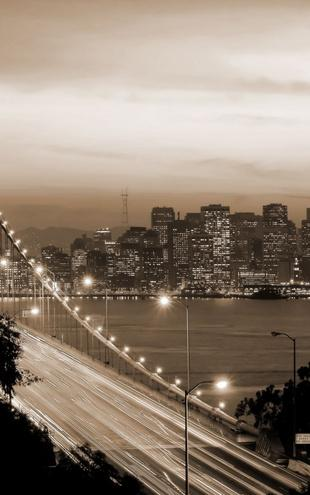 PHOTOWALL / San Francisco - Sepia (e10090)