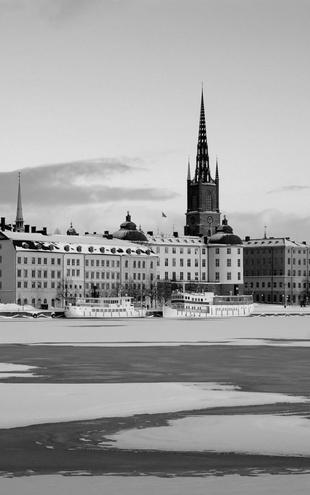 PHOTOWALL / Winter in Stockholm - b/w (e10105)