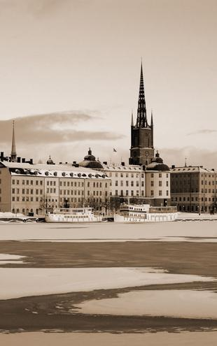 PHOTOWALL / Winter in Stockholm - Sepia (e10106)
