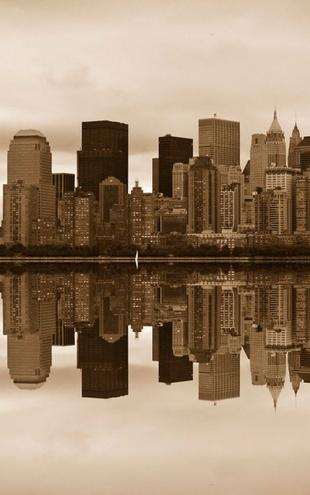 PHOTOWALL / Manhattan - Sepia (e1428)
