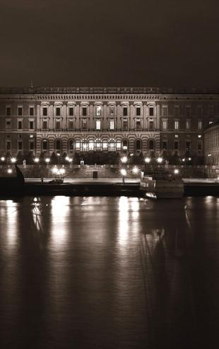 PHOTOWALL / Stockholm Royal Palace - Sepia (e1501)