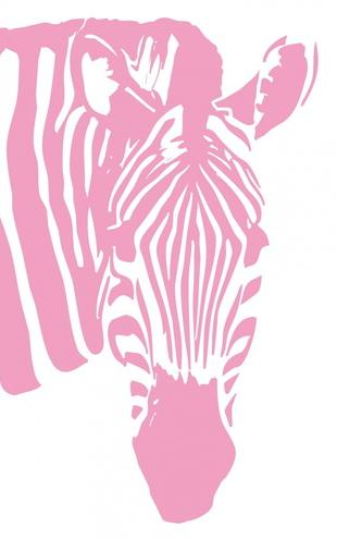 PHOTOWALL / Watching Zebra - Pink (e1772)
