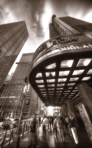 PHOTOWALL / Radio City Hall - Manhattan - Sepia (e1790)