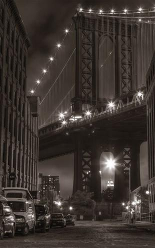 PHOTOWALL / Washington Street - Manhattan - Sepia (e1807)