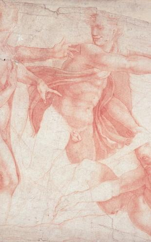 PHOTOWALL / Buonarroti,Michelangelo - Studies of Male Nudes (e2093)