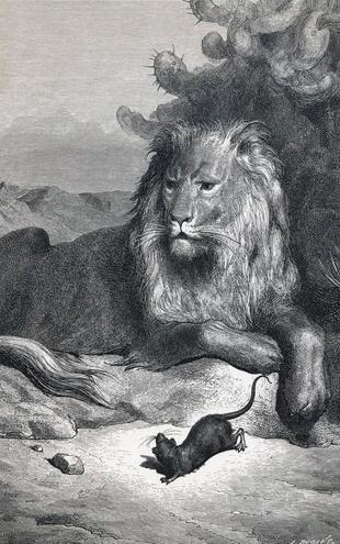 PHOTOWALL / Dore,Gustave - Lion and the Mouse (e2144)