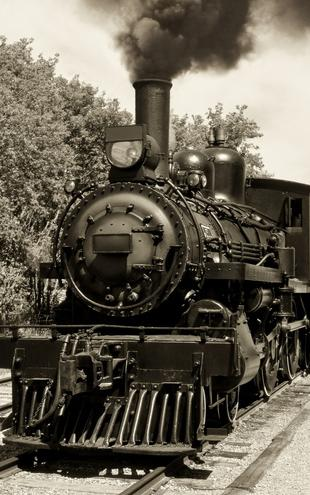 PHOTOWALL / Old Locomotive - Sepia (e19380)