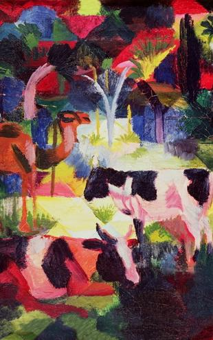 PHOTOWALL / Macke,August - Cows and a Camel (e10362)