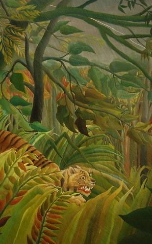 PHOTOWALL / Rousseau,Henri - Tiger in a Tropical Storm (e10386)
