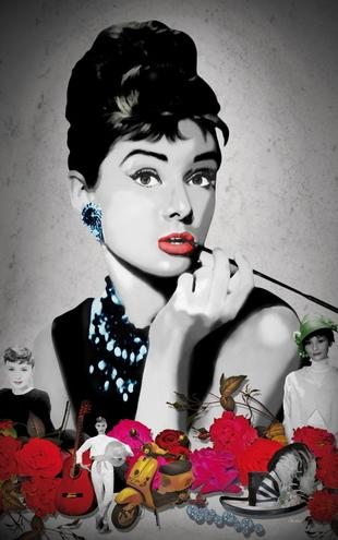PHOTOWALL / Hepburn - Black (e19640)