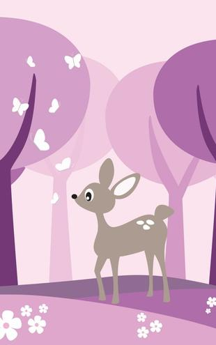 PHOTOWALL / Deer in Purple Woods (e20107)