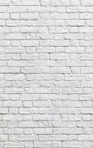 PHOTOWALL / Brick Wall - White (e20332)