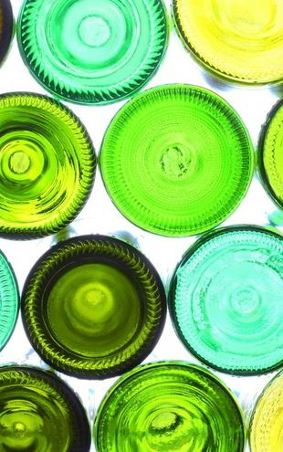 PHOTOWALL / Colorful Bottle Bottoms (e20347)