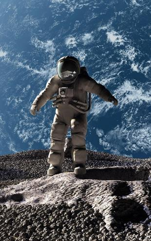 PHOTOWALL / Astronaut with Earth in Background (e20366)