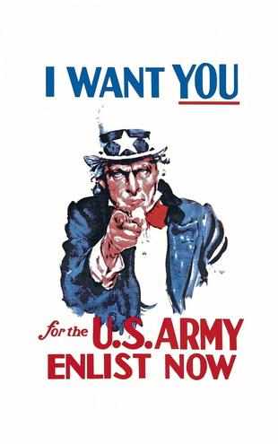 PHOTOWALL / Uncle Sam Enlist Now (e20436)
