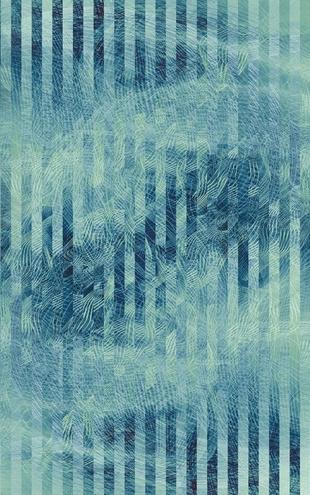 PHOTOWALL / Liquid Lines and Stripes - Green Blue (e20480)
