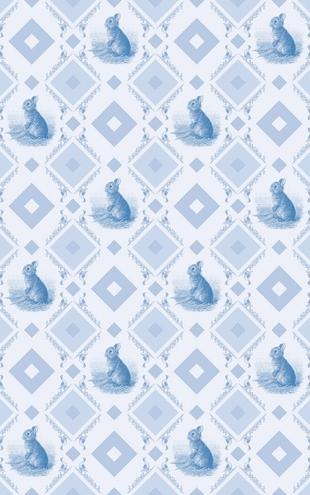 PHOTOWALL / Young Rabbit - Gooseframe Lightblue (e20492)