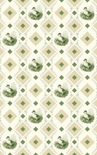 PHOTOWALL / Ducklin - Gooseframe - Green Beige (e20538)