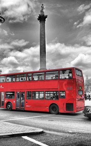 PHOTOWALL / London Bus - Colorsplash (e20750)