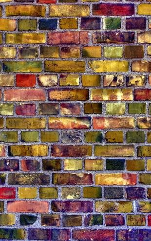 PHOTOWALL / Colorful Brickwall (e20751)