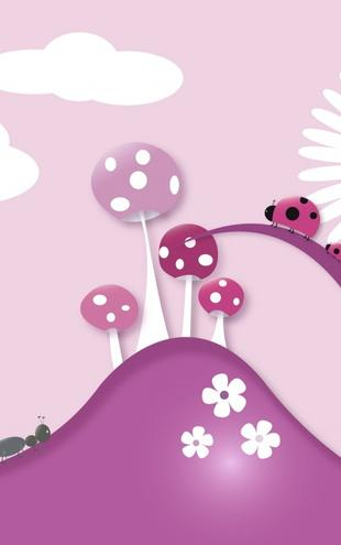 PHOTOWALL / A Bugs World - Pink (e20760)