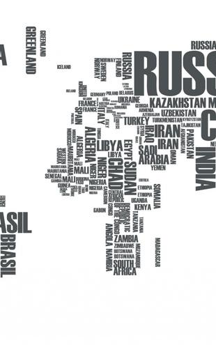 PHOTOWALL / World in Wordcloud (e21045)
