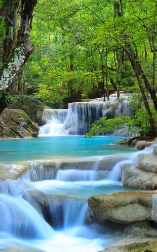 PHOTOWALL / Erawan Waterfall -Thailand (e21135)