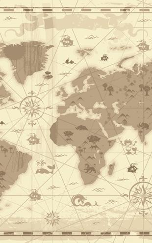 PHOTOWALL / World Map - Styled (e21247)