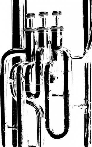 PHOTOWALL / Brass Horn Graphic - Tuba (e21334)