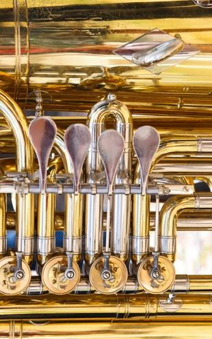 PHOTOWALL / Brass Horn Valv - Tuba (e21335)