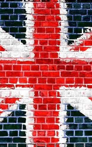 PHOTOWALL / Union Jack Brick Wall (e21345)