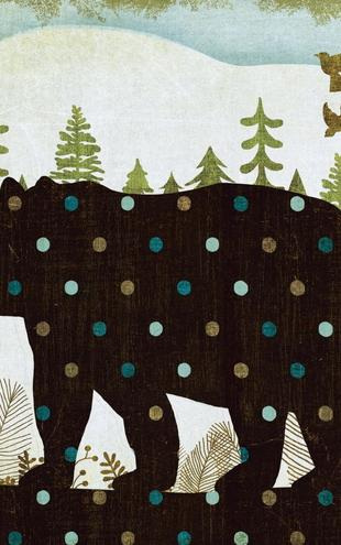 PHOTOWALL / Woodland Dwellers Bear Dots (e21593)