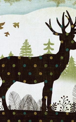 PHOTOWALL / Woodland Dwellers Deer Dots (e21594)