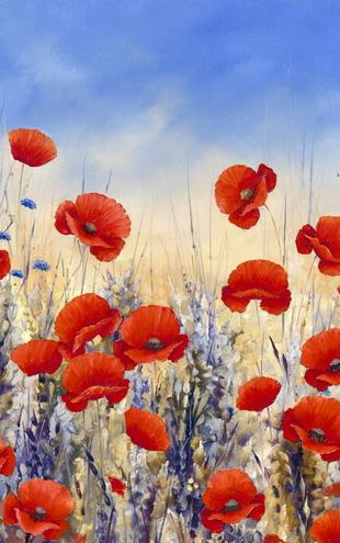 PHOTOWALL / Sunset Poppies (e22130)