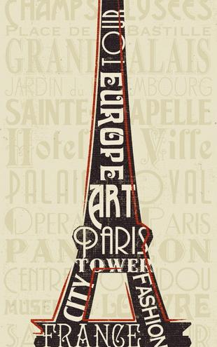 PHOTOWALL / Pela Studio - Paris City Words I (e22281)