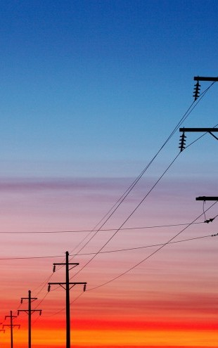 PHOTOWALL / Power Lines at Sunset (e20364)