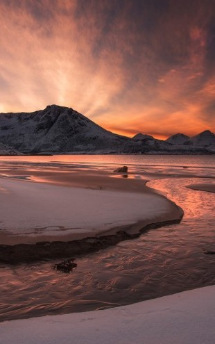 PHOTOWALL / Golden Sunset in Norway (e22455)