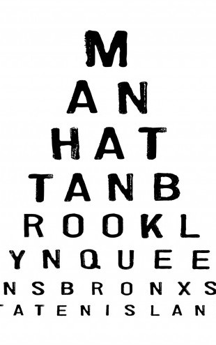 PHOTOWALL / 5 Boroughs Eye Chart (e22632)