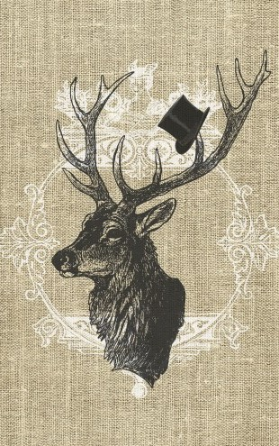 PHOTOWALL / Gentleman Stag Linen (e22637)
