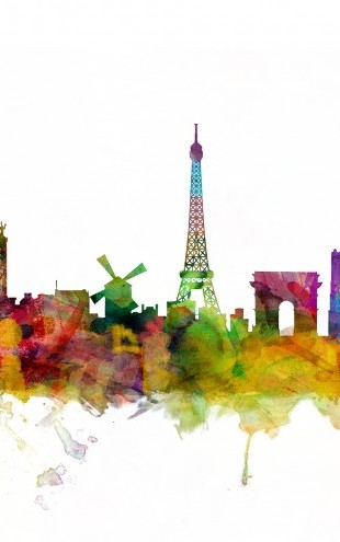 PHOTOWALL / Paris Skyline (e22692)