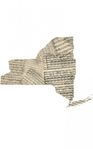 PHOTOWALL / New York Old Music Sheet Map (e22697)