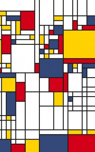 PHOTOWALL / Piet Mondrian Style World Map (e22704)