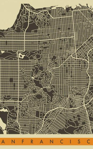 PHOTOWALL / City Map - San Fransisco (e22763)